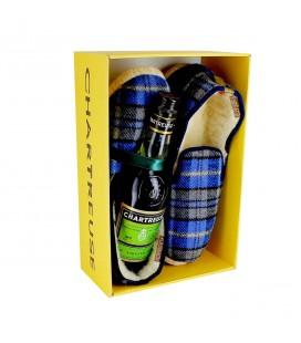 CHARTREUSE - Coffret Chartreuse Verte + pantoufles
