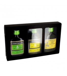 CHARTREUSE - Coffret Chartreuse Verte, Jaune et liqueur du 9ème Centenaire