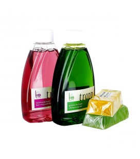 ABBAYE DE NAZARETH - Lot shampooing vert, bain moussant bruyère & 2 savons