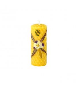 MONASTERE DE LA PAIX-DIEU - Bougie décor fleur séchée N°7