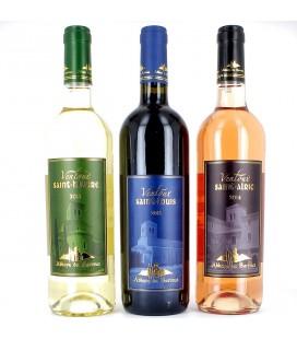 ABBAYE DU BARROUX - Lot de 3 vins Ventoux