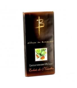 ABBAYE DE BONNEVAL - Tablette de chocolat noir surfin & noisettes