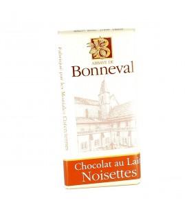 ABBAYE DE BONNEVAL - Tablette de chocolat au lait & noisettes