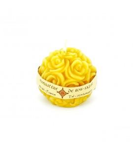 MONASTERE DE BOIS-SALAIR - Bougie boule de roses N°9