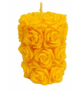 MONASTERE DE BOIS-SALAIR - Bougie cylindre de roses N°20