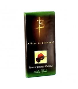 ABBAYE DE BONNEVAL - Tablette de chocolat noir surfin au café
