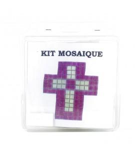 L'ARCHE - Kit mosaïque croix rose