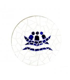 L'ARCHE - Plaque ronde en mosaïque au logo de l'Arche