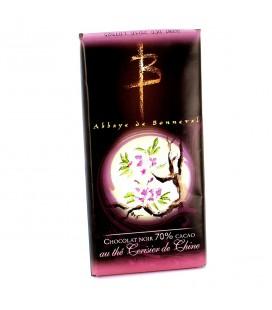 ABBAYE DE BONNEVAL - Tablette de chocolat noir au thé cerisier de Chine