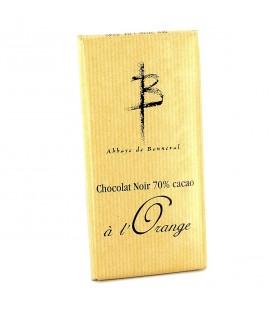 ABBAYE DE BONNEVAL - Tablette de chocolat noir à l'orange