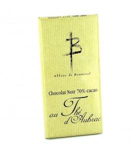 ABBAYE DE BONNEVAL - Tablette de chocolat noir au thé d'Aubrac