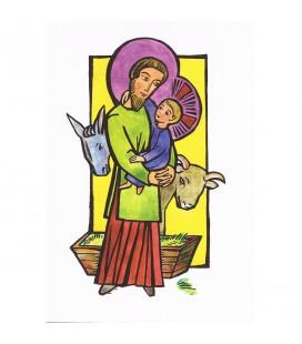 CARTE de voeux - Noël avec Jésus - paquet de 8