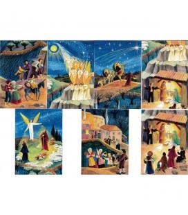 CARTE de voeux - Noël provençal - paquet de 7