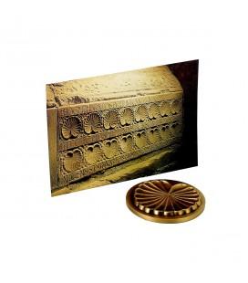ABBAYE DE JOUARRE - Médaille coquille + carte postale