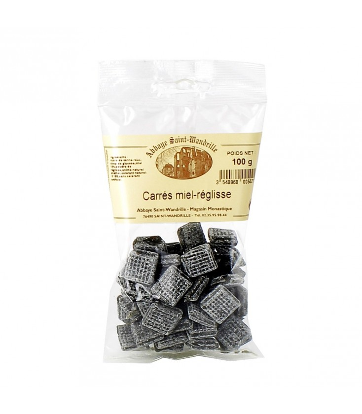ABBAYE DE SAINT WANDRILLE - Bonbons carrés au miel & réglisse DATE DEPASSEE