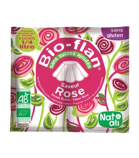 NAT-ALI - Bio-Flan : préparation bio pour flan à la rose DATE DEPASSEE